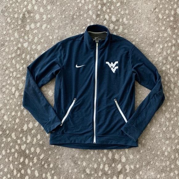 Nike WVU Wear Virginia University Zip-up jacket